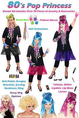 Sexy PLUS SIZE 1980's Punk Rocker Pop Princess Costume - Madonna Lauper