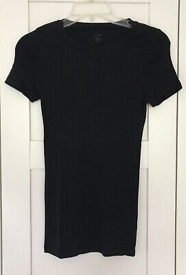 J CREW Fitted Tee Black T-Shirt Slim Fit Size Small  NWOT