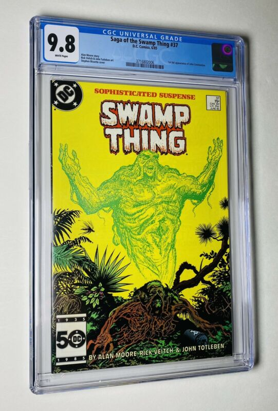 Saga Of The Swamp Thing #37 CGC 9.8 WP 1st Full App Of John Constantine 🔥🔑🔑🔥