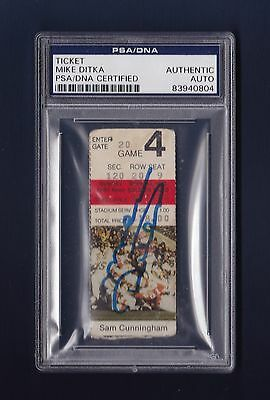 Mike Ditka signed Chicago Bears 1985 football ticket stub Psa Authenticated