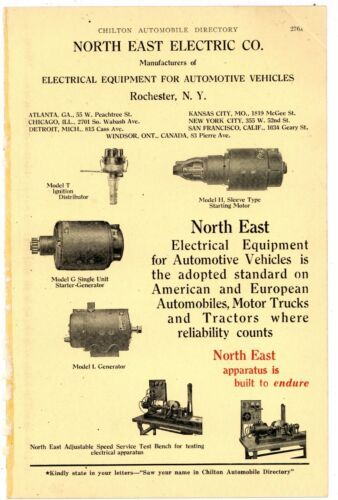1920 North East Electric Co. 4 Page True Centerfold Ad: Rochester, New York