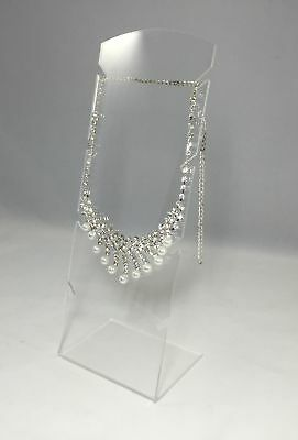 Clear Acrylic Plexiglass Necklace Jewelry Stand Countertop Display 11620-8b