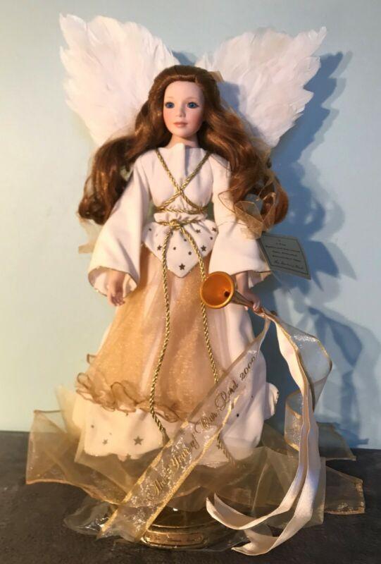 """2000 Danbury Mint CELESTE THE MILLENNIUM ANGEL 18"""" Porcelain Doll"""