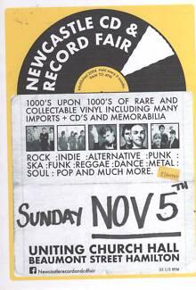 NEWCASTLE RECORD AND CD FAIR - SUNDAY NOVEMBER 5th
