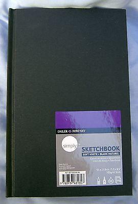Daler Rowney Simply Sketchbook Hardbound 5.5 X 8.5 65 Lb 110 Sheets