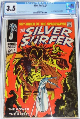Silver Surfer #3 CGC 3.5 from Dec 1968 1st appearance of Mephisto.