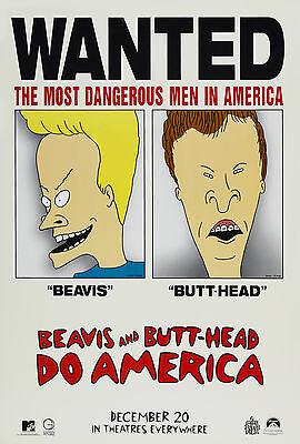 Beavis And Butt Head Do America  1996  Original Advance Movie Poster     Rolled
