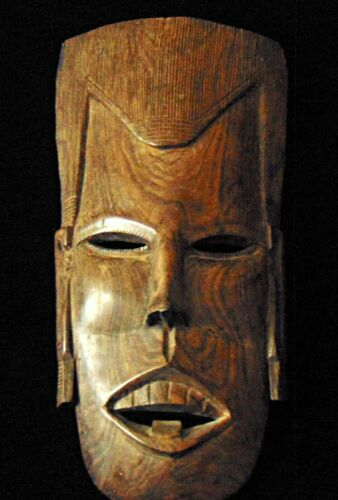 Japanese Wooden mask 16.5 inches 2 lb Maple