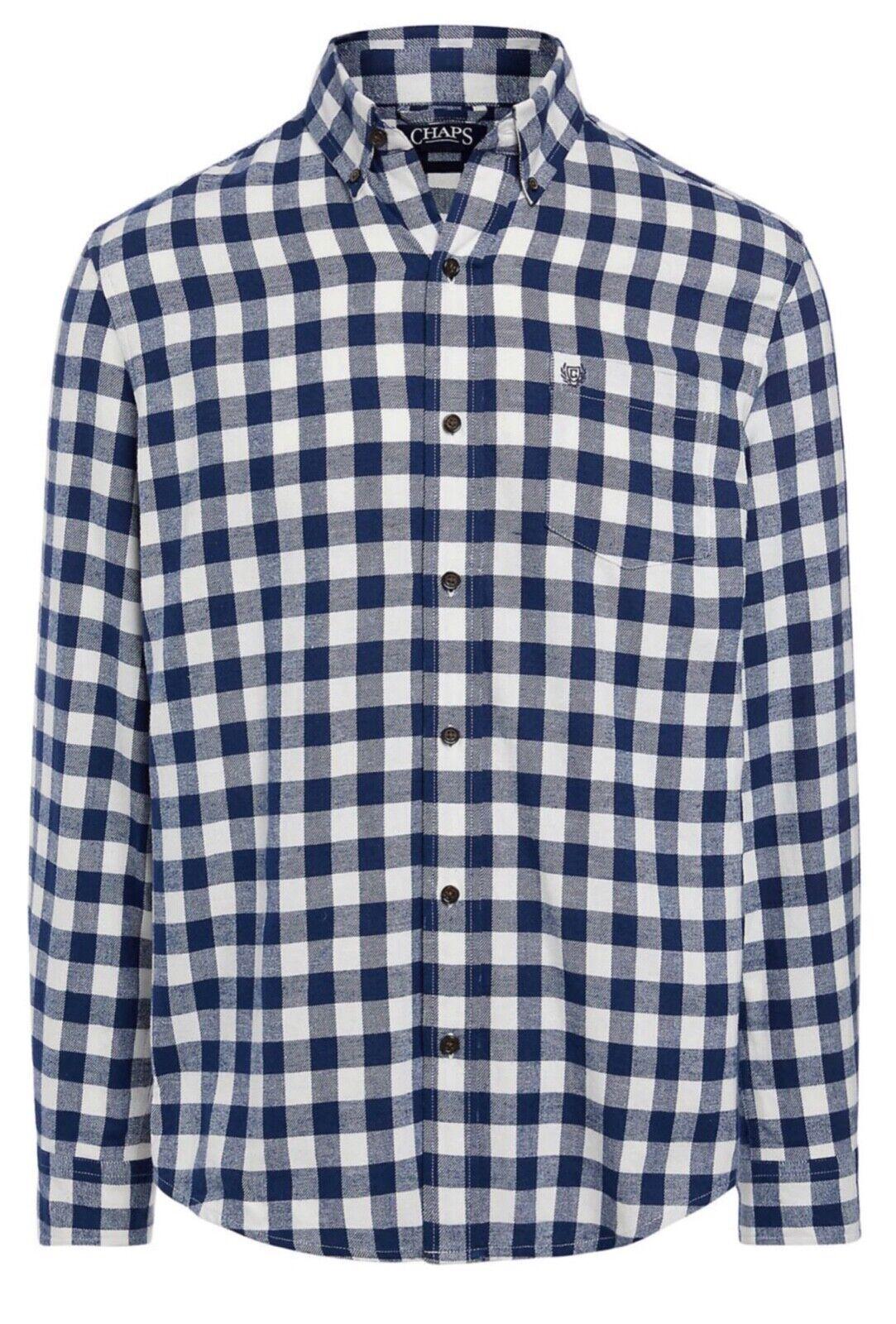 Men's Chaps Performance Flannel Shirt— Medieval Blue: Ch
