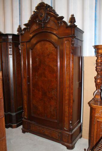 American Victorian Walnut Armoire Wardrobe
