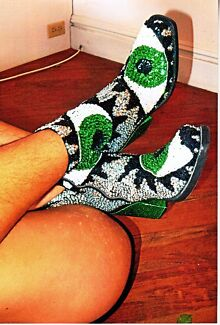 DISCOUNT UNIVERSE 'EVIL EYE' Sequinned Ankle Boots