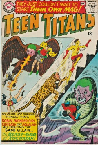 TEEN TITANS ORIGINAL SERIES #1  JUSTICE LEAGUE CAMEO DC  SILVER-AGE 1966  NICE!!
