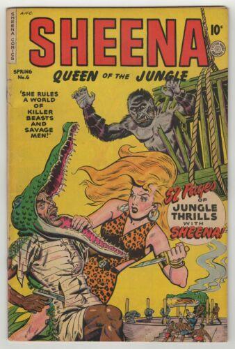 Sheena Queen Of The Jungle (1942) #6 Fiction house Jack Kamen GGA Cov APP VG/FN