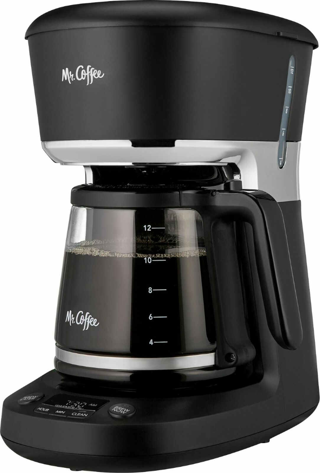 Mr. Coffee - 12-Cup Coffee Maker with Dishwashable Design - Black/Chrome