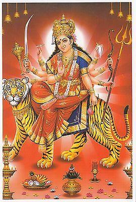 (96863) Postcard India Hindu Durga - un-posted