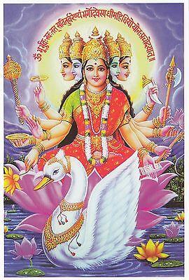 (96865) Postcard India Hindu Gayatri - un-posted