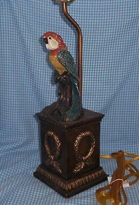 """25"""" Vintage Unused PARROT bird Lamp Tagged retail $147.50"""