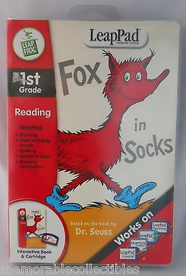 LeapFrog LeapPad Dr. Seuss FOX IN SOCKS 1st Grade Educationa