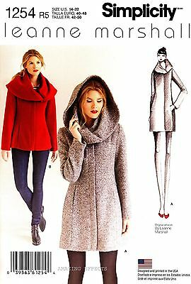 Simplicity Sewing Pattern 1254 Women's 14-22 easy lined Coat and Jacket