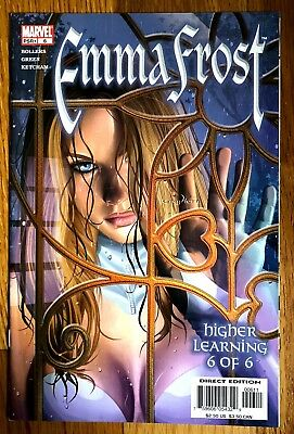 EMMA FROST #6 Sexy Cover GOOD GIRL ART by GREG HORN X-Men White Queen Marvel  (Emma Frost Girl)