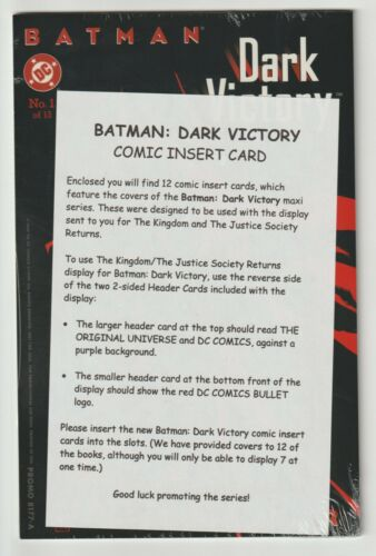 Batman: Dark Victory Insert Cards (1999) - Sealed with promo instructions - DC