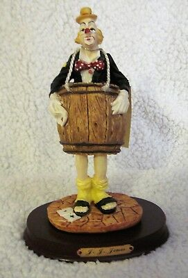 "J. J. Jones ""Out of Luck"" Barrel 1995 Chadwick - Miller Clown Statue Figurine for sale  Hyndman"