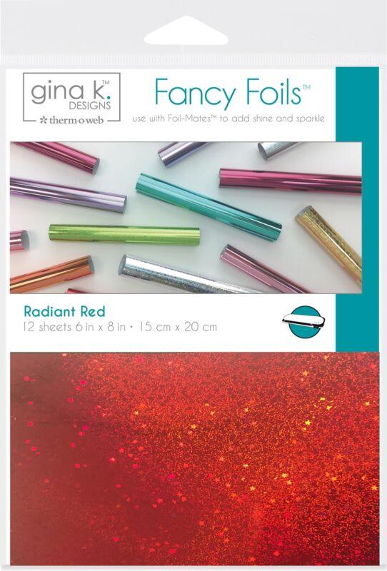 """Gina K Designs Fancy Foil 6""""X8"""" 12/Pkg-Radiant Red - 2 Pack"""