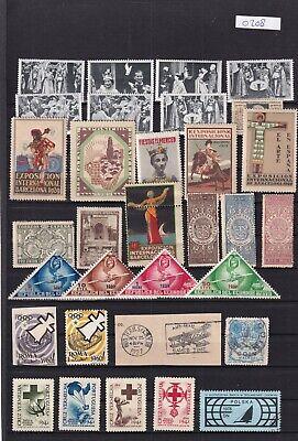 0242 Cinderellas ( Spain) Nice lot of stamps see scan