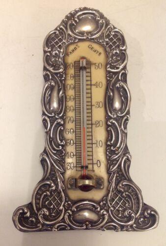 Antique silver mounted Thermometer, Levi & Salaman, Birmingham, 1901