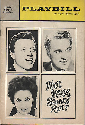 1965 Playbill What Makes Sammy Run? Steve Lawrence Robert Alda Bernice Massi