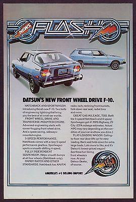 1976 Original Vintage Datsun F-10 Hatchback Sportwagon Car Photo Print Ad