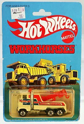 Hot Wheels Vintage Rig Wrecker Workhorses Series #3916 New NRFP 1979 White 1:64