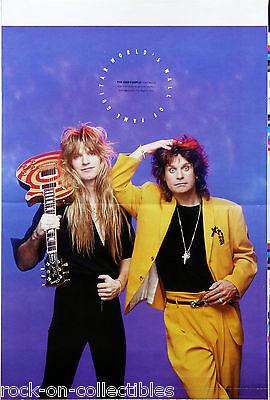 Ozzy Osbourne Zakk Wylde 1990 Guitar World Wall of Fame Magazine Proof Original