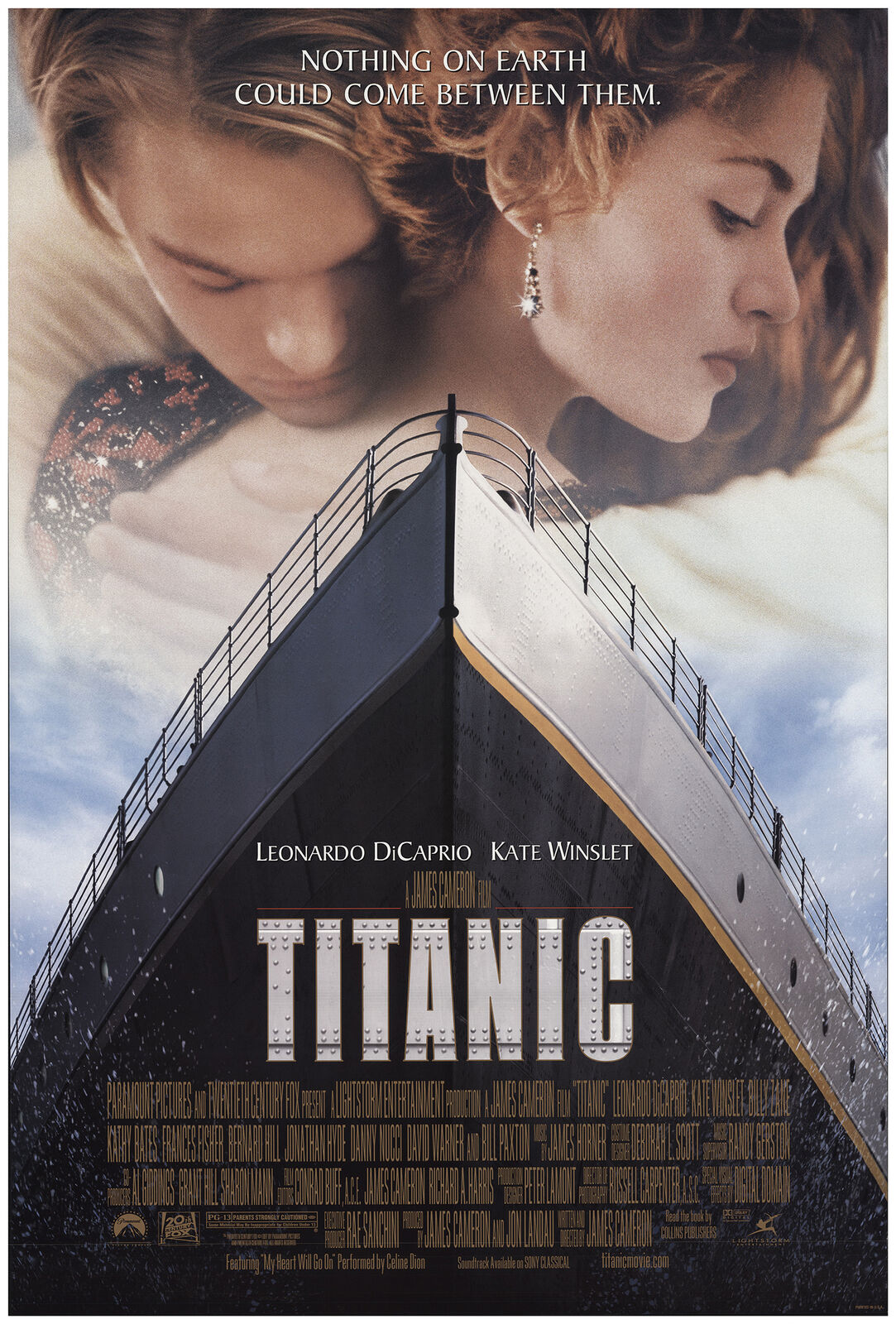 TITANIC MOVIE POSTER DS AUTHENTIC ORIGINAL 2-sided FINAL 27x