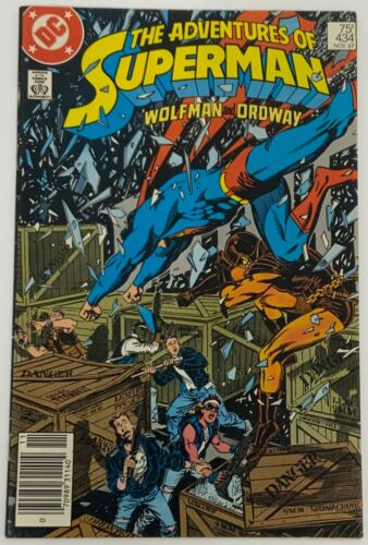 The Adventures of Superman 434 Newsstand Edition VG Condition