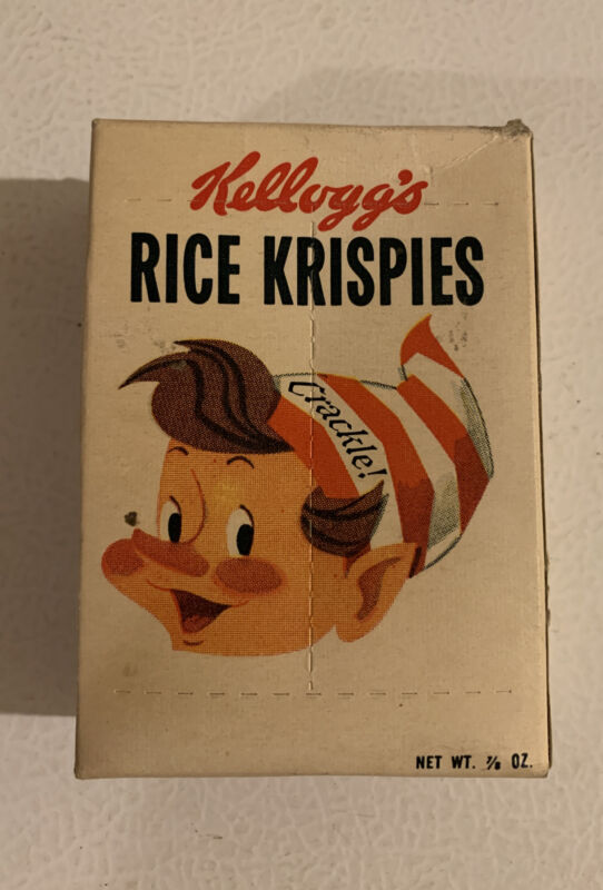 1960 Vintage Rice Krispies Kellogg's 7/8 Ounce Cereal Box NOS Sealed Unopened