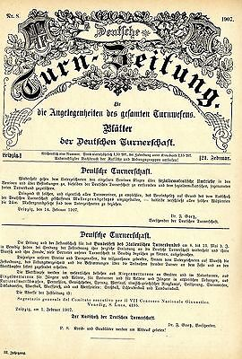 1907 Dr.Goetz Vorsitzender Deutsche Turnerschaft * Sozialdemokratische Umtriebe