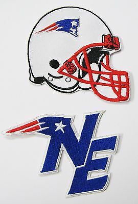 LOT OF (2) NEW NFL NEW ENGLAND PATRIOTS EMBROIDERED PATCHES (TYPE C) ITEM # 14