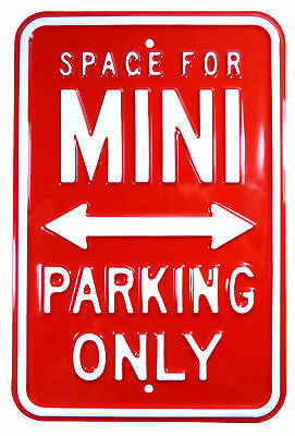 Classic Mini - Metal No Parking Red And White Sign Raised Letters - PARK38R