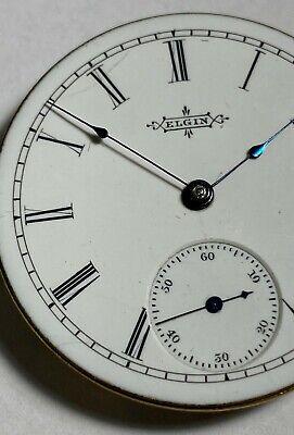 Elgin 6s, 7 jewel, Grade 95, pocket watch movement. Runs but needs service.