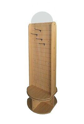 Peg Board Display Wood Pegboard Spinner Rack Giftware Rack Accessories 32 Hooks
