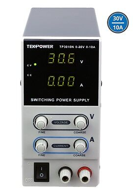 Tekpower Tp3010n Regulated Dc Variable Power Supply 0-30v At 0-10a