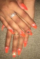 ONLY $25 FOR ACRYLIC NAILS WITH SHELLAC NAILPOLISH