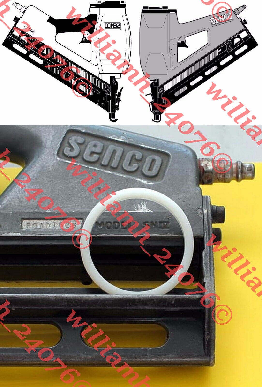 Senco Framing Nailer SN4 SN70 Washer Firing Valve Seal LB350
