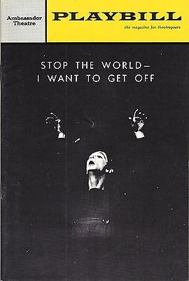"""Joel Grey """"STOP THE WORLD"""" Anthony Newley / Leslie Bricusse 1964 Playbill"""
