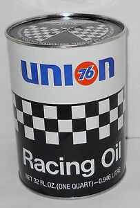 Vintage Union 76 Nascar SAE40 Racing Oil 1qt. Can, Full