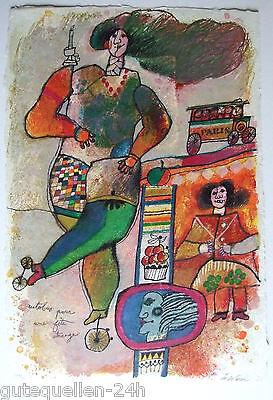 Theo TOBIASSE Original Lithografie Auflage 102/120  Handsigniert