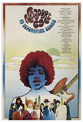 Jimi Hendrix & More Newport 69 Devonshire Downs Poster 1969 Large Format 24x36