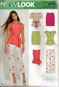 From-UK-Sewing-Pattern-Peplum-Top-Skirt-Pants-8-18-6130