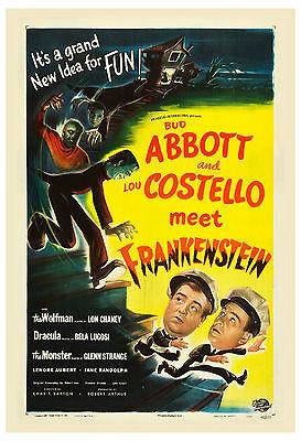 * Abbott & Costello Meet Frankenstein * Movie Poster 1948 Large Format 24x36